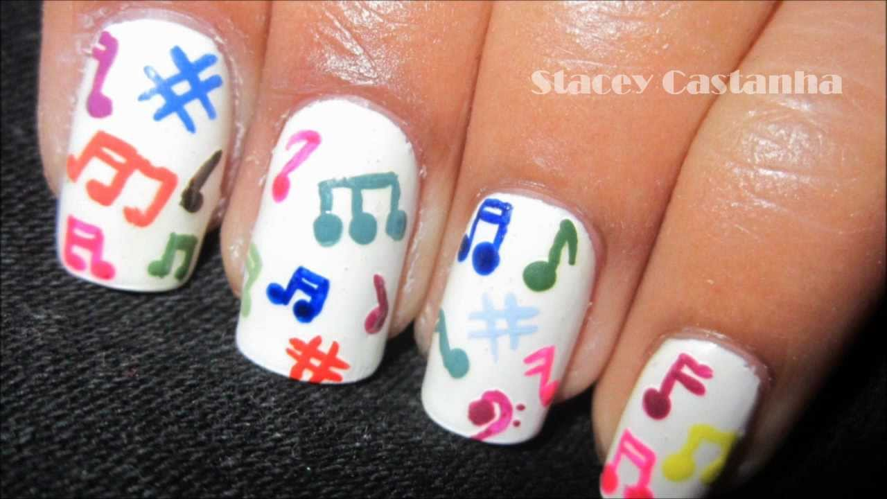 Easiest Music Note Nail Art - YouTube