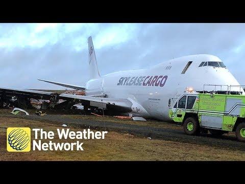 HALIFAX AIRPORT: Passengers left waiting after cargo jet skids off runway