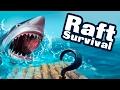 Raft Survival - Выживаем в океане (обзор-летсплей на Android)