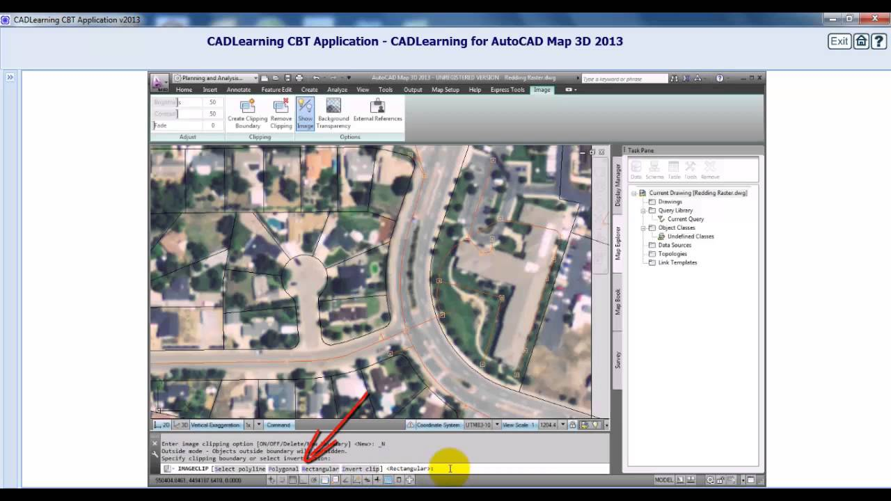 AutoCAD MAP 3D 2013 Tutorial Working With Images   YouTube