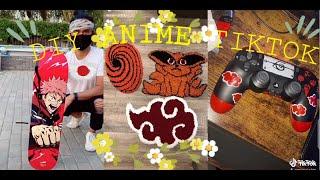 Anime art crafts & DIY Anime on Tiktok  part 1(jujutsu kaisen,Naruto, itachi).