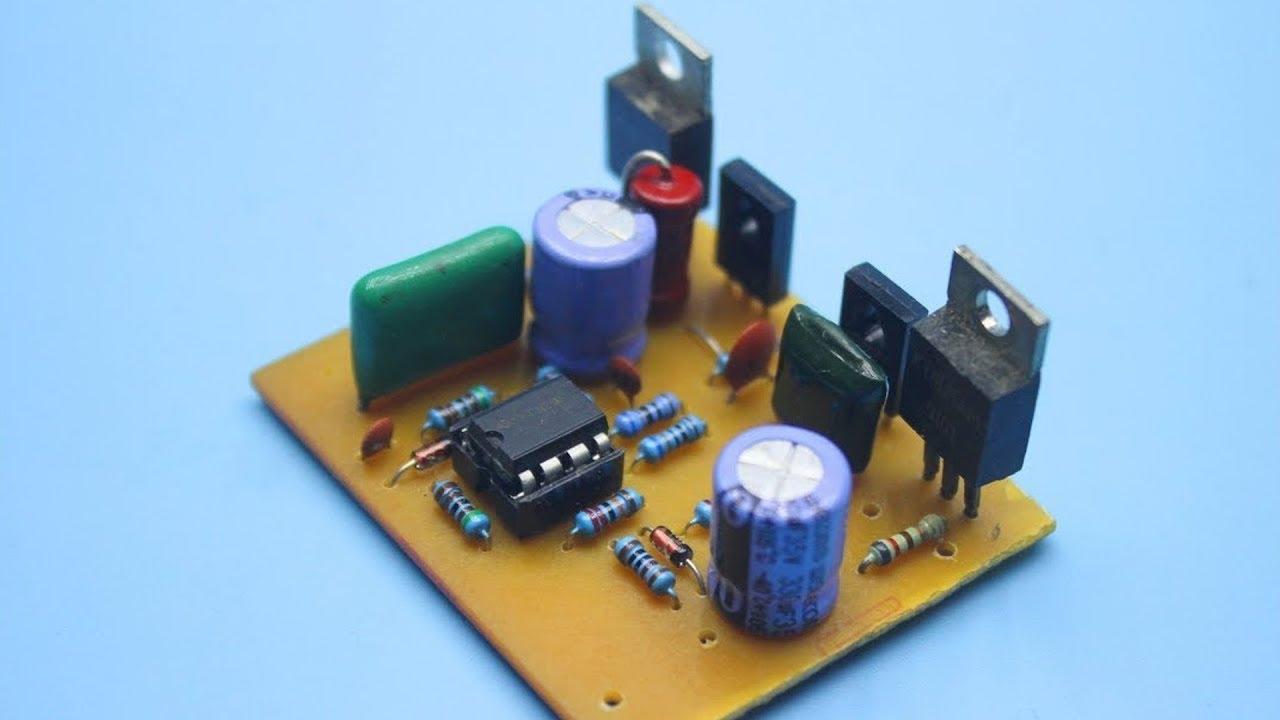 50w Amplifier On Transistors Youtube Power Circuit Classb