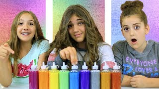 3 Color Slime Challenge!  ALL METALLIC Glues - SHOCKING Results!