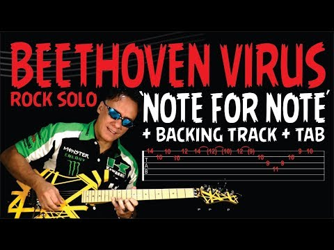 BEETHOVEN VIRUS - DOWNLOAD NOTE FOR NOTE VIDEO+TAB+BACKING TRACK