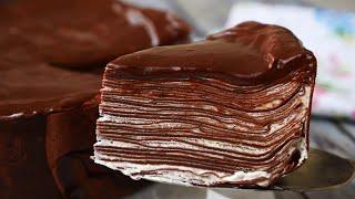 Шоколадныи Торт из блинов Очень Вкусный Chocolate Pancake Cake