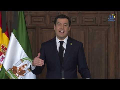 Declaraciones Juanma Moreno tras videoconferencia con Pedro Sanchez