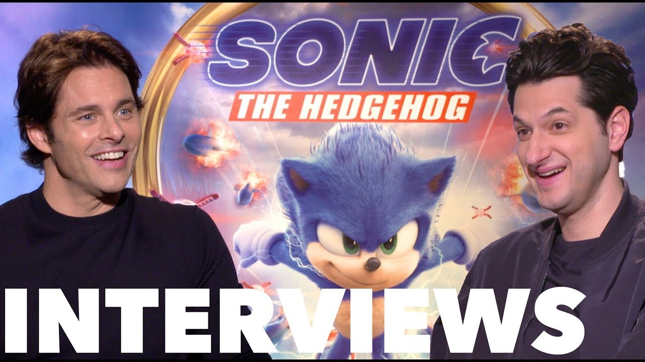 SONIC THE HEDGEHOG Fun Cast Interviews with Ben Schwartz and James Marsden