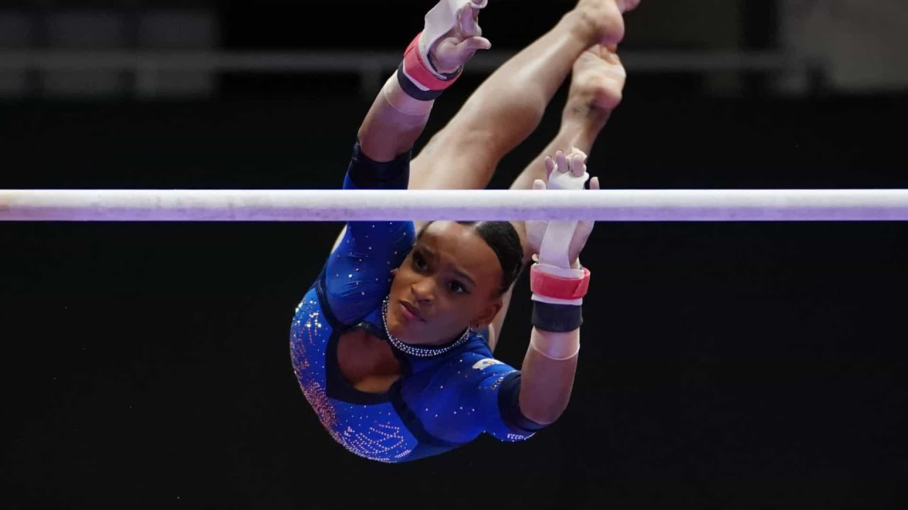 Download Rebeca Andrade MASSIVE 15.100 on the Uneven Bars   2021 Worlds