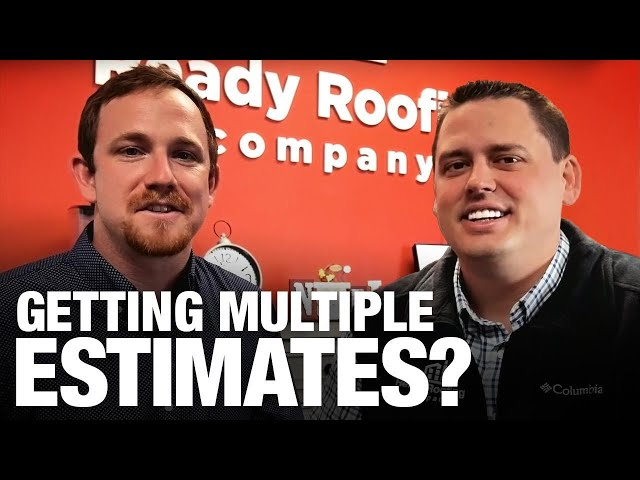 Ready Roofing explains why you shouldn't get multiple estimates for your roof repair/replacement