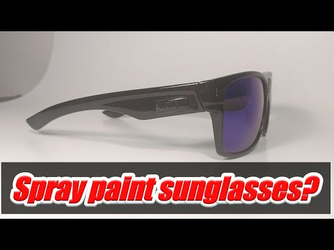 Spraying sunglasses with rattle cans, spray painting Oakley Sunglasses