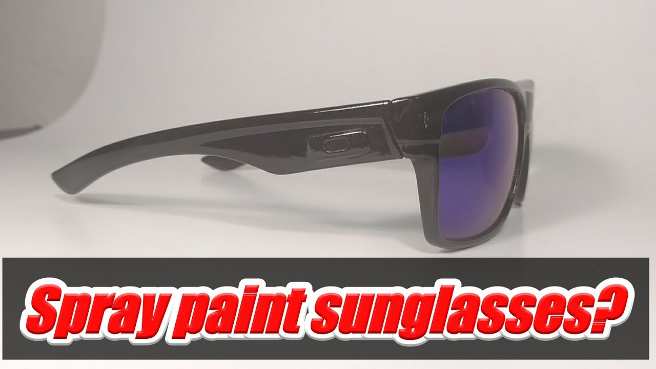 3463ae4aac ... shop spraying sunglasses with rattle cans spray painting oakley  sunglasses 1dda4 a4526