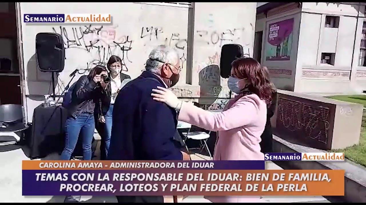 Temas con la responsable del IDUAR: Bien de Familia, ProCreAr, loteos y Plan Federal de La Perla