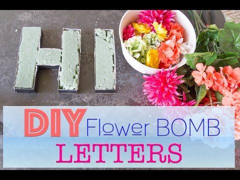 DIY Flower Letters | Valentine's DIY Decor