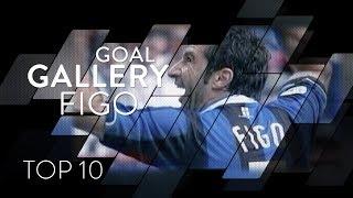 LUIS FIGO | INTER TOP 10 GOALS | Goal Gallery 🇵🇹🖤💙