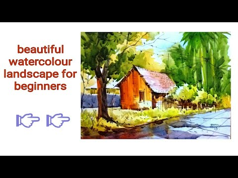 Beautiful watercolour landscape for beginners step by step/by Rahul/inspire from Vilas Kulkarny