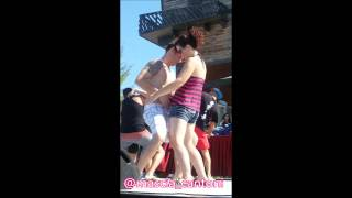Nick Carter playing Coconut game at BSB Cruise 2014 Backstreet Boys
