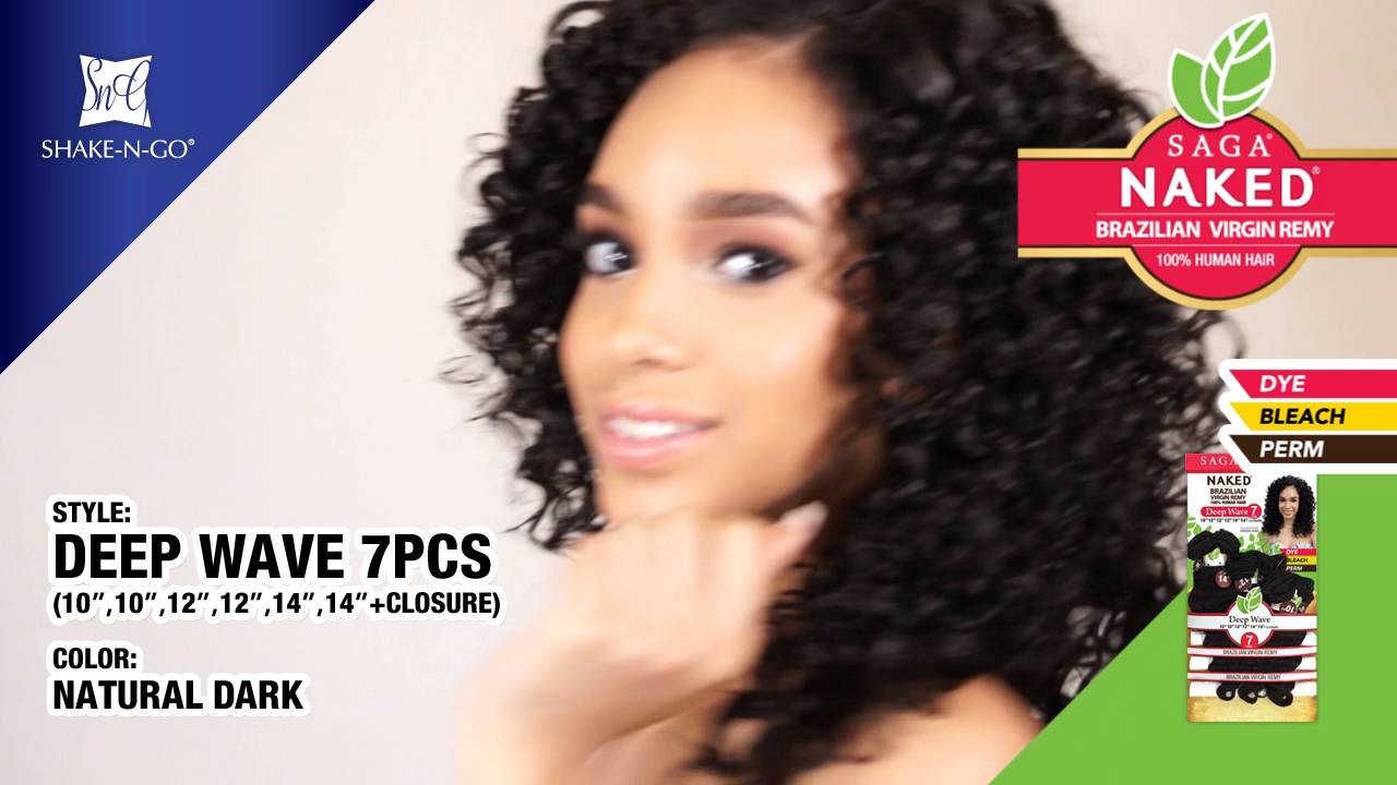 Saga Naked 100 Human Hair Deep Wave 7pcs Youtube