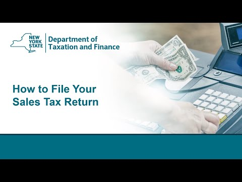 How To File Your Sales Tax Return Webinar