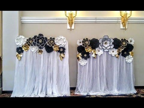 DIY Paper Flower Backdrop for WEDDING