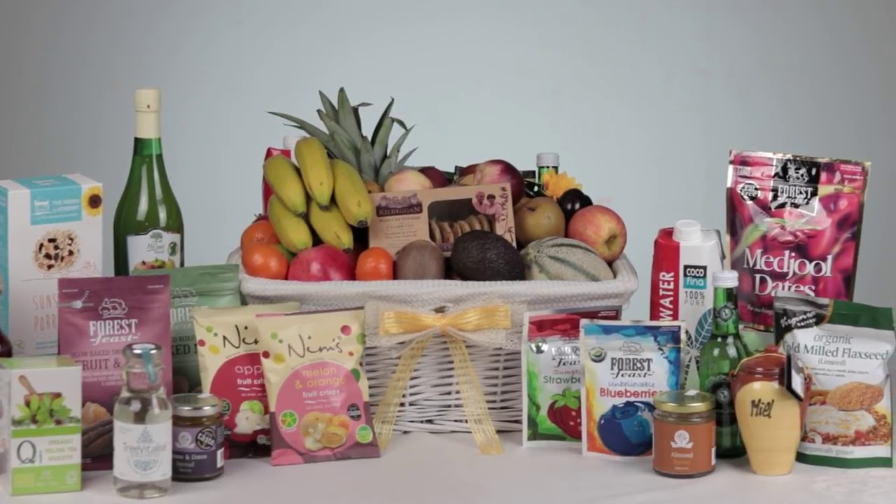 Fruit and Healthy Food Gift Baskets - YouTube