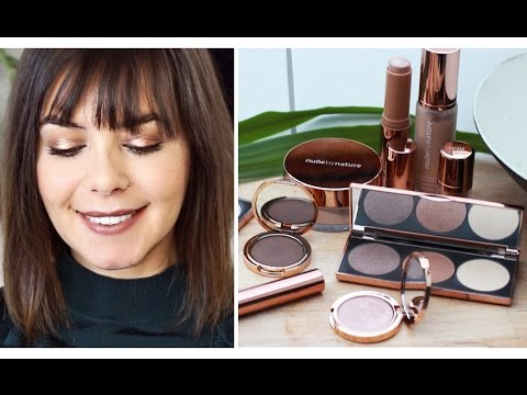 NUDE BY NATURE MAKE UP one brand Tutorial / deutsch rosegold metallic eyeshadow