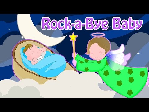 Rock-a-Bye Baby | Classic Lullaby With Lyrics | Nursery Rhymes For Kids