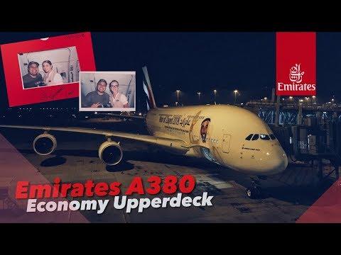 VLOG EMIRATES A380 Economy Upperdeck EK385 Hong Kong to Bangkok