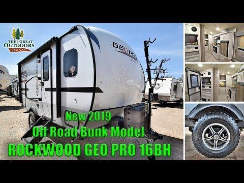 New 2019 Bunk Model ROCKWOOD GEO PRO 16BH Off Road Package Camper RV Colorado Sales Dealer