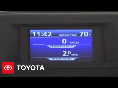 2007-2009 Highlander How-To: Multi-Information Display - Switching the Display   Toyota