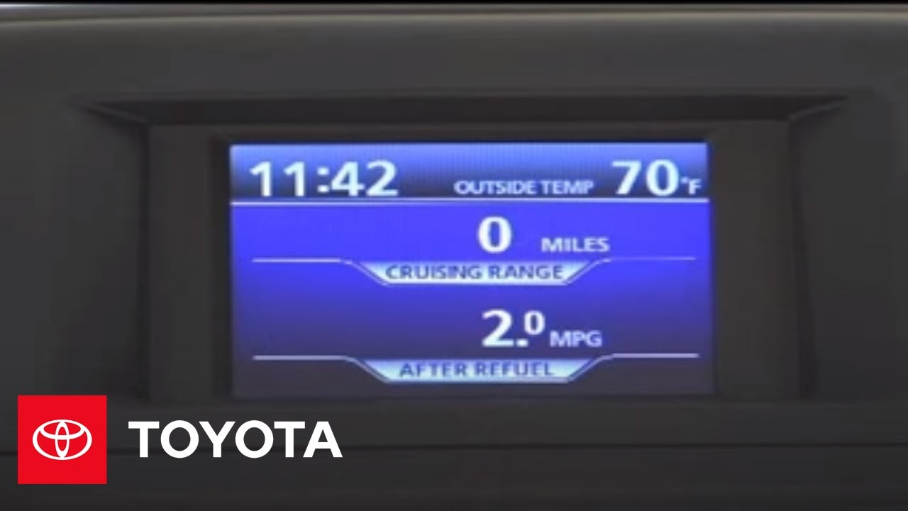 2007 2009 Highlander How To Multi Information Display Switching The Toyota