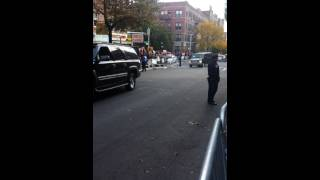 Obama in Crown heights Brooklyn
