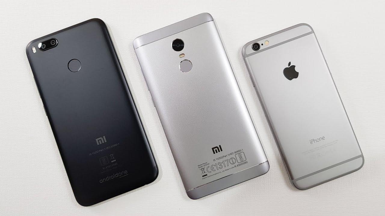 Mi A1 Vs Redmi Note 4 Vs Iphone 6 Speed Test Comparison