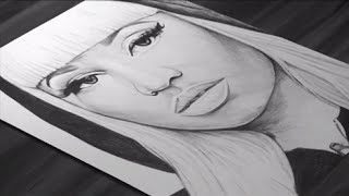 Nicki Minaj Drawing - DeMoose Art