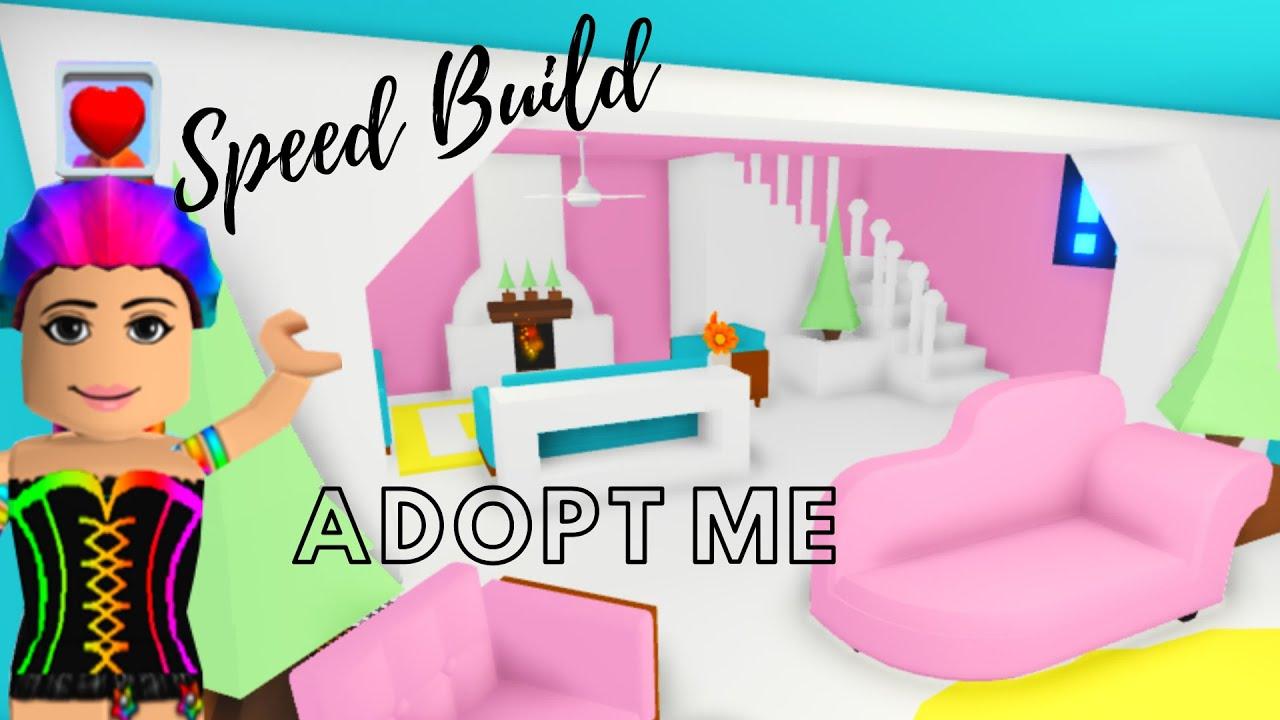 Adopt Me Speed Build - Adopt Me Estate House (Living Room Happy Design) - Adopt Me Building Hacks - YouTube