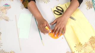 How to make Paper Craft Flower Vase in 5mins with waste papers    DIY Crafts