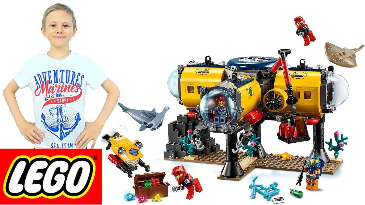 Лего Сити ОКЕАН 60265 База подводных исследователей Акванавтов и Даник - Новинки LEGO 2020 года. 13+