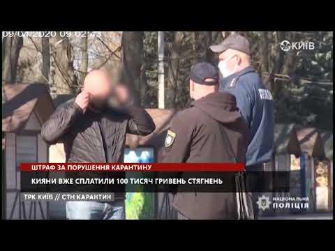 Телеканал Київ: Штраф за порушення карантину