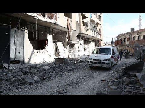 اربعة ايام من الضربات الدامية على الغوطة الشرقية قرب دمشق
