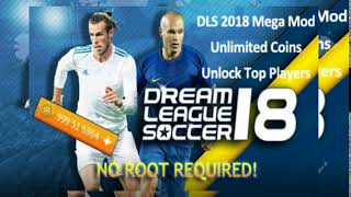 Download Install Dream League Soccer 2018 v5.064 MOD Unlimited Money APK + OBB