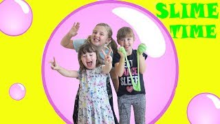 Ava Isla and Olivia's GIANT SLIME BUBBLE !! Can we fit inside ?