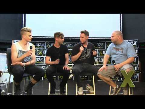 X102.9 Presents: Wild Cub backstage at Rock On The River 5