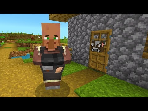 Never force feed a Minecraft villager!