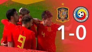 RESUMEN   España 1 - 0 Rumanía   Fase Clasificación Europeo Sub-21