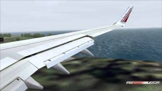 FS2004 - Landing at Corfu Airport Ioannis Kapodistrias / Greece with B737 Air Berlin