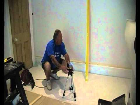 how to use a laser level youtube. Black Bedroom Furniture Sets. Home Design Ideas