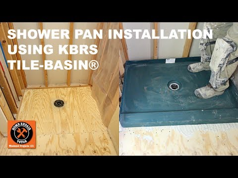 Shower Pan Installation Using KBRS Tile-Basin® -- by Home Repair Tutor
