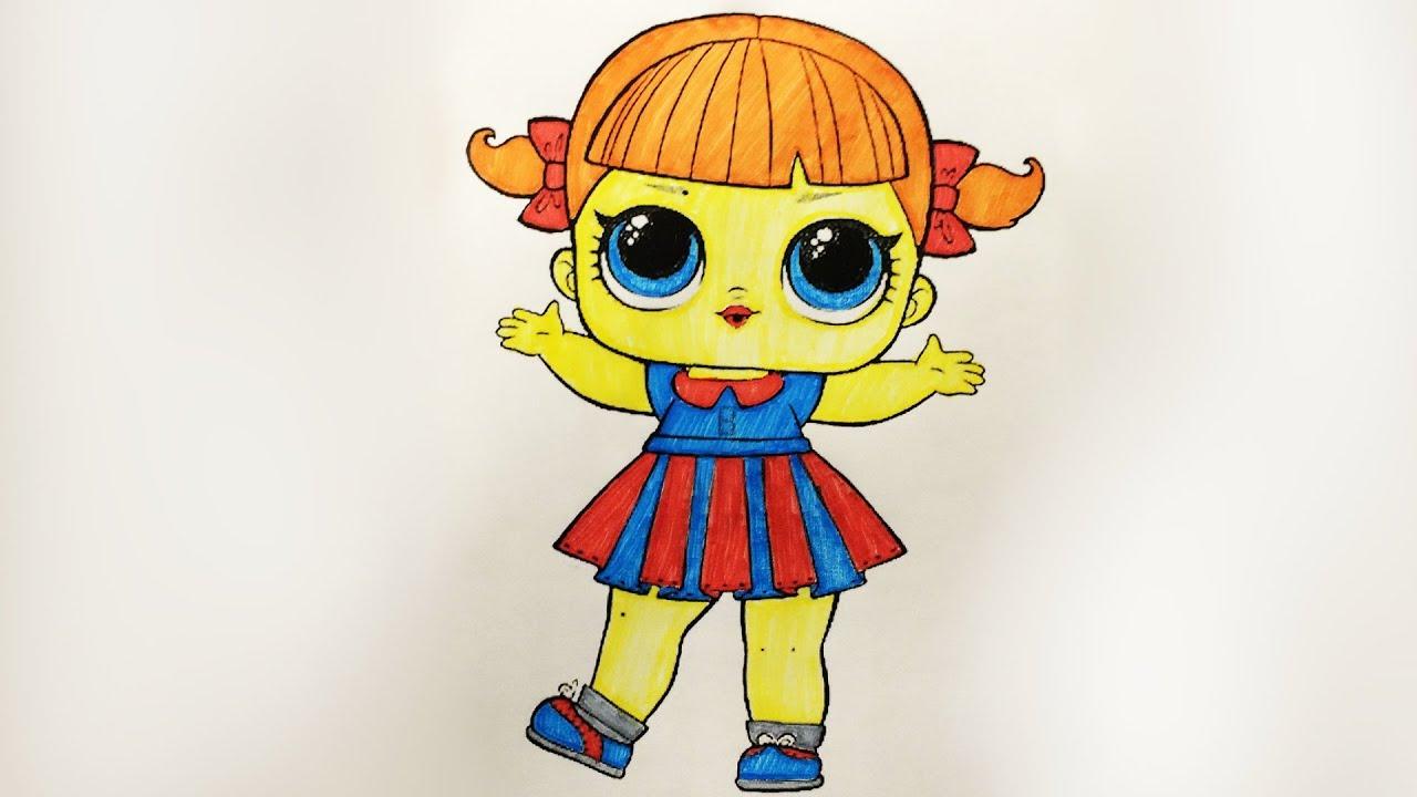 Как раскрасить Куклу ЛОЛ Яркие раскраски для детей (Эмилия ...