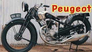 Мотоцикл Peugeot/Пежо. Реставрация от мотоателье Ретроцикл.