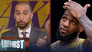 Nick Wright on LeBron's Lakers : 'They have to make the playoffs'   NBA   FIRST THINGS FIRST