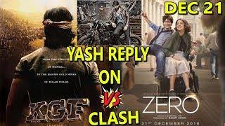 Rocking Star YASH Shocking Reply On KGF Vs ZERO Clash